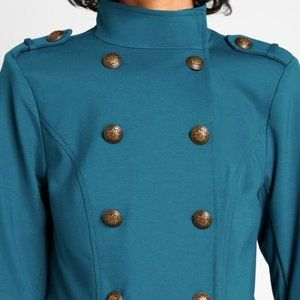 Teal Knit Military Jacket - Brand New